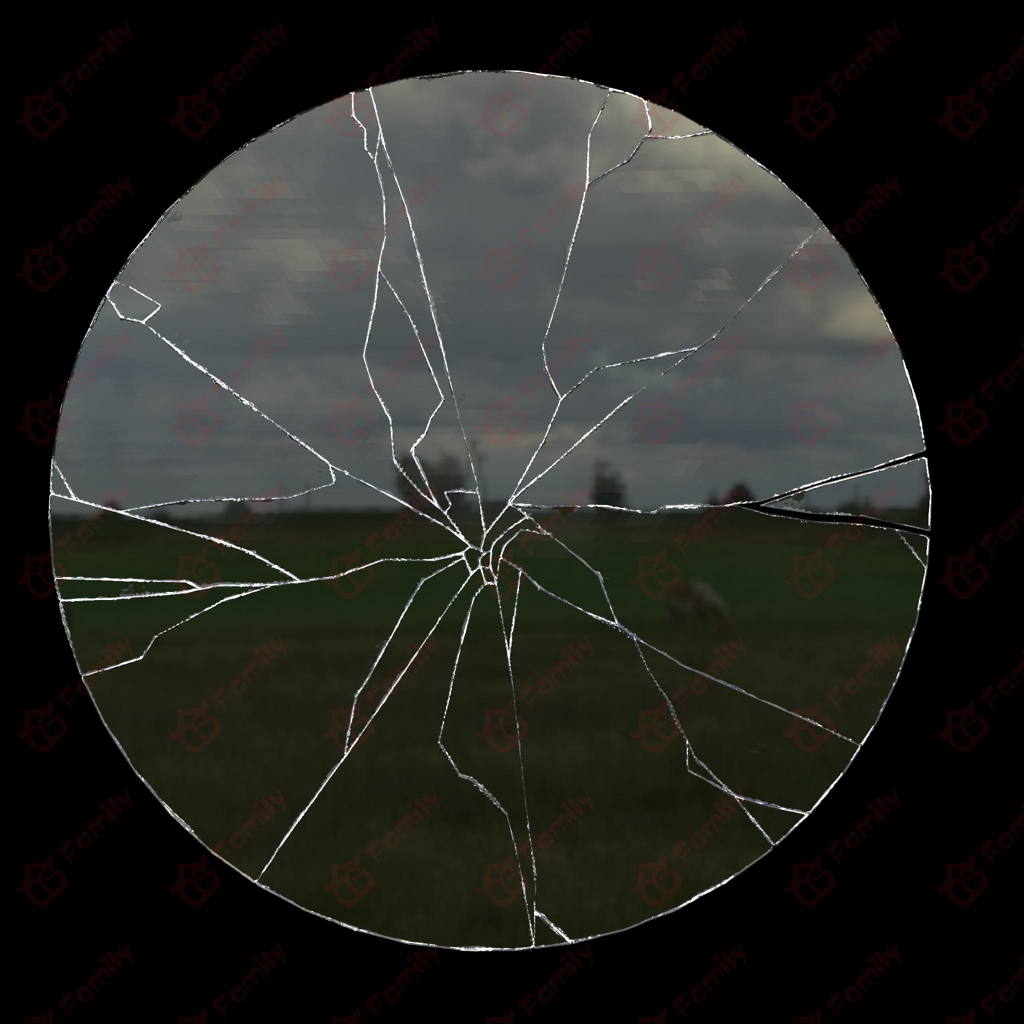 破碎镜子,镜子碎片,特效碎片