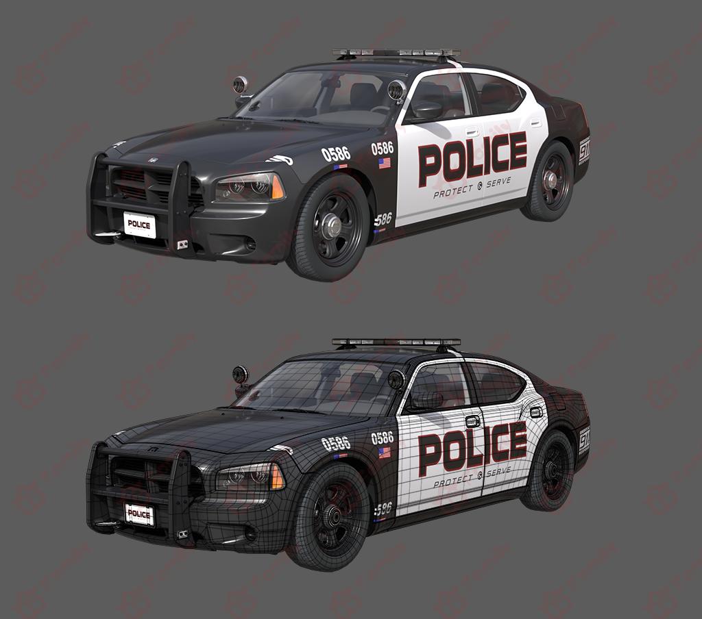 警车,美国警车,高模