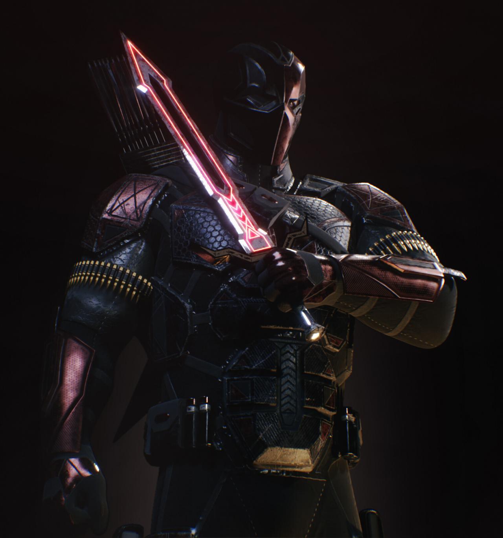 蝙蝠侠骑士倒下-角色-死亡中风- UE4