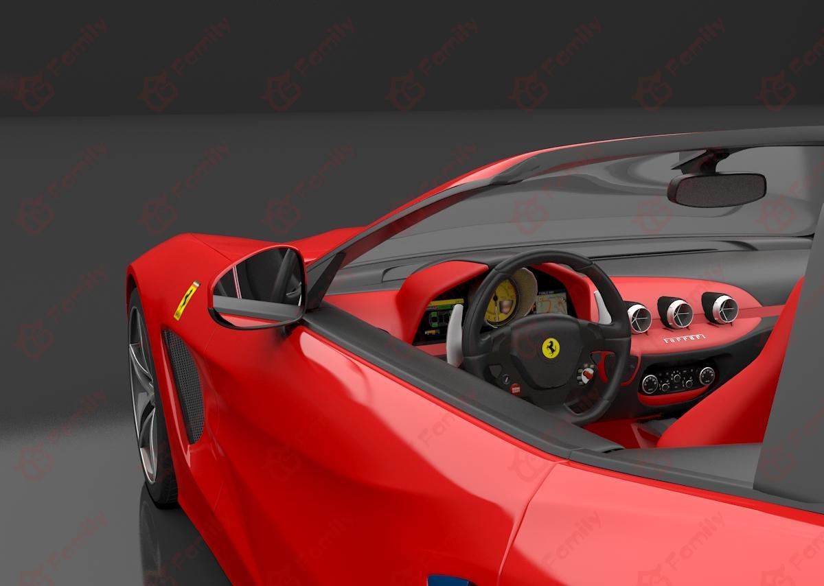 超精细法拉利模型 法拉利2016款F60America 跑车 汽车 f60