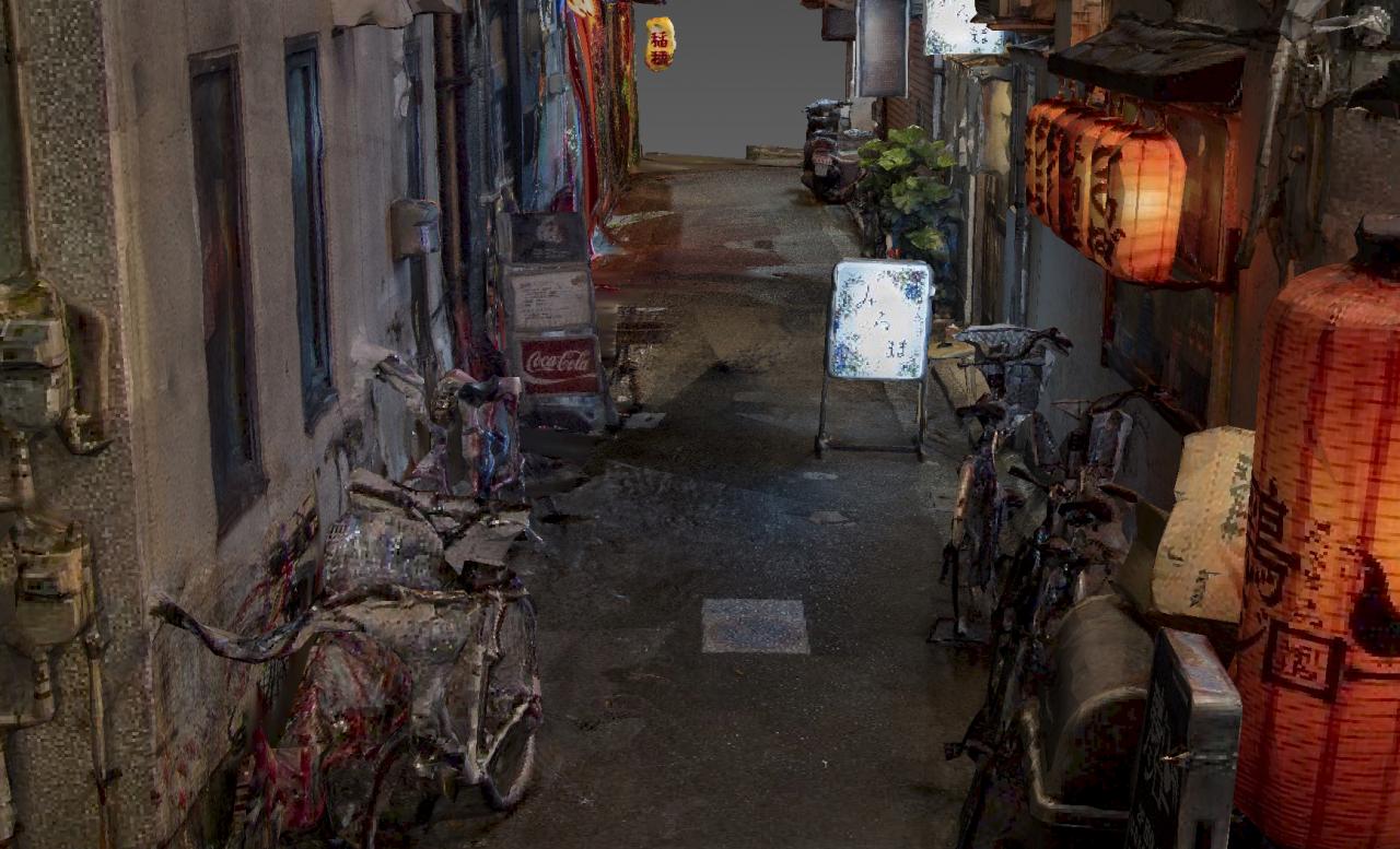 东京小巷 街霸场景 写实高模  日式风格 高清贴图 免费分享