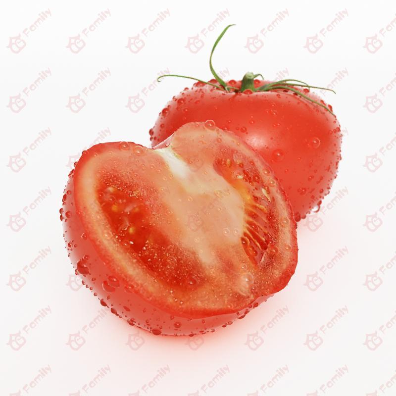 超精度蔬菜番茄3d模型免费下载