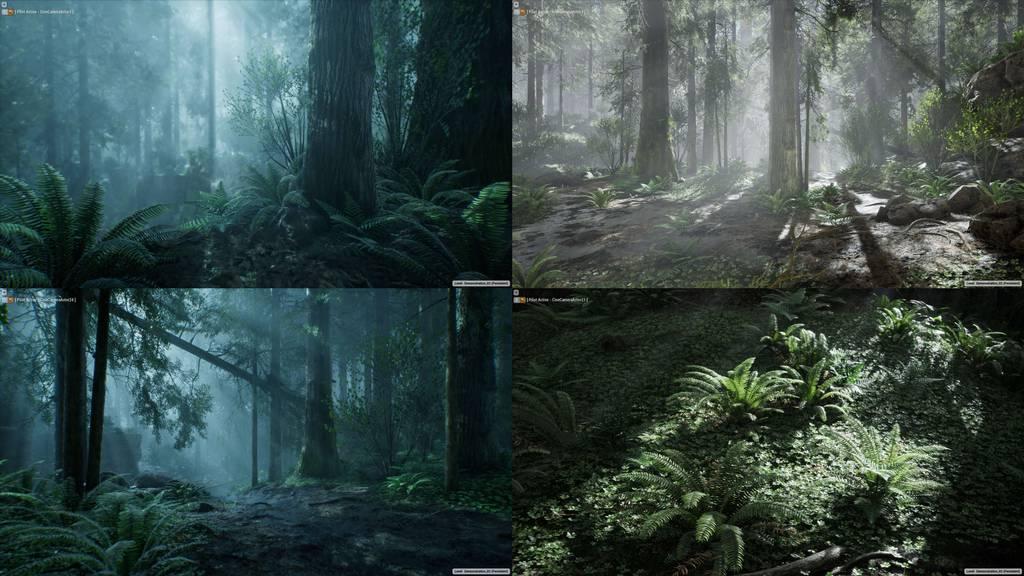 UE4森林场景_森林资产包_植物_树_山石