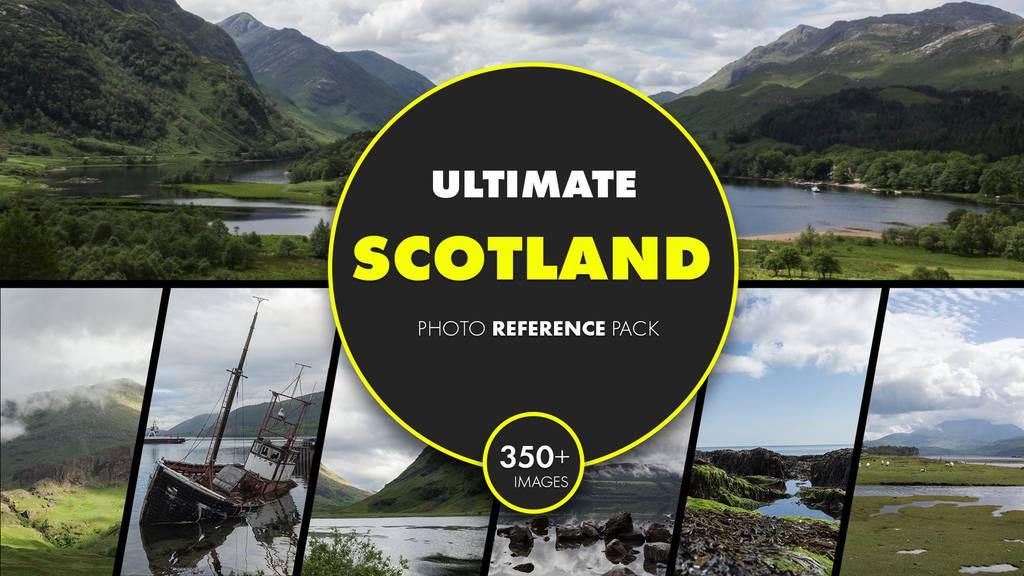 苏格兰终极照片参考包(高地、海岸、尼斯湖)_3d素材