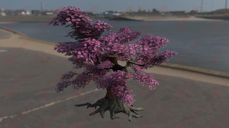 奇形怪状的古树3d模型下载