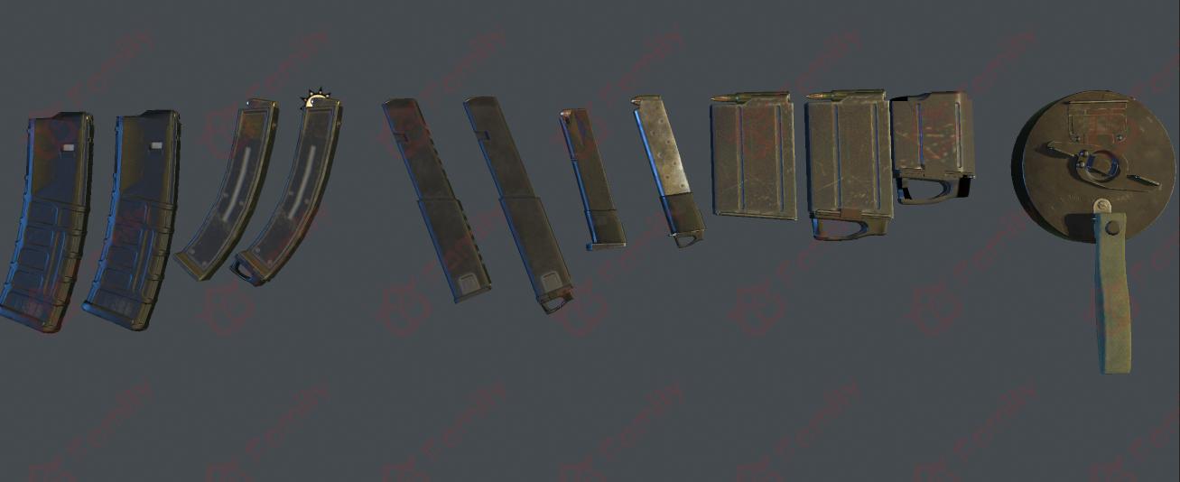 各种枪械弹夹_3d模型下载