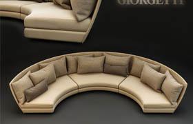 Dhow半圆形沙发模型_3d模型网