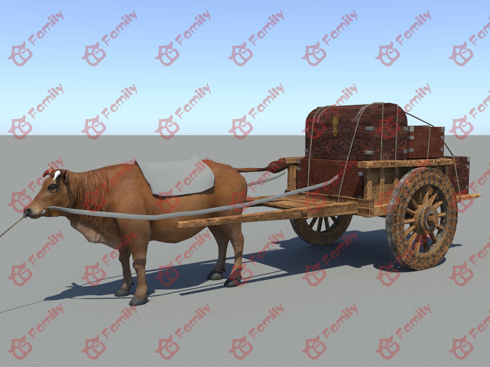 牛车 牛拉车 牛 古代牛拉车马车古代马车木车木板车人力车畜力车畜牧车驴车板儿车