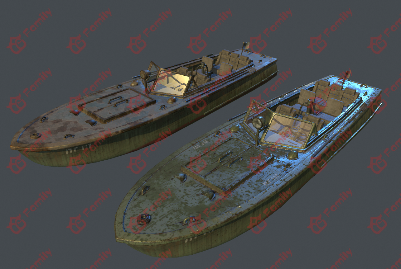 绝地求生全套急救品冷兵器道具交通运输工具船舶快艇