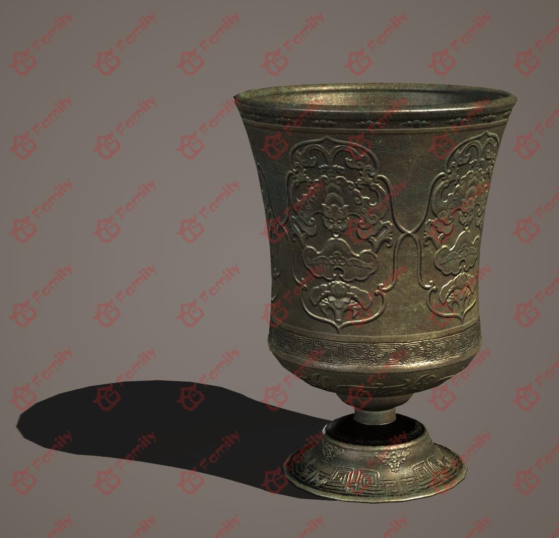 超精细 青铜杯 复古酒杯 圣餐杯 铜杯 杯子 圣爵 祭祀用品 古代金器 酒杯
