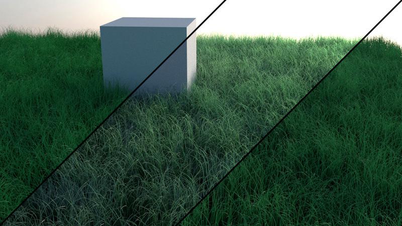 Creating Grass in Blender 使用Blender制作草教程