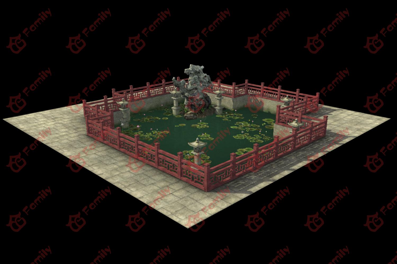 荷花池3d模型下载