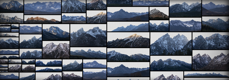 雪峰 Snowy Peaks