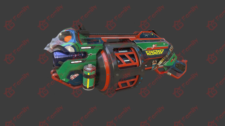 科幻武器枪PBR贴图