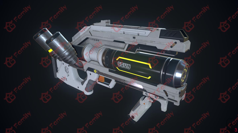 科幻武器 atrax 阿特拉克斯次时代模型下载