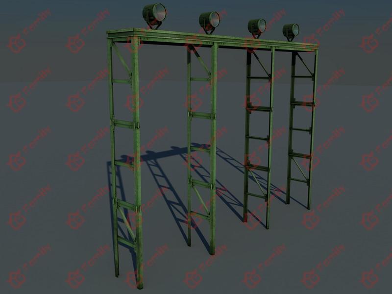 舞台灯光灯架3d模型下载