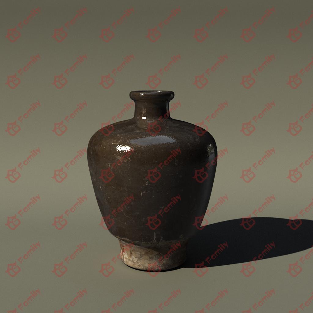 3d陶瓷罐模型下载