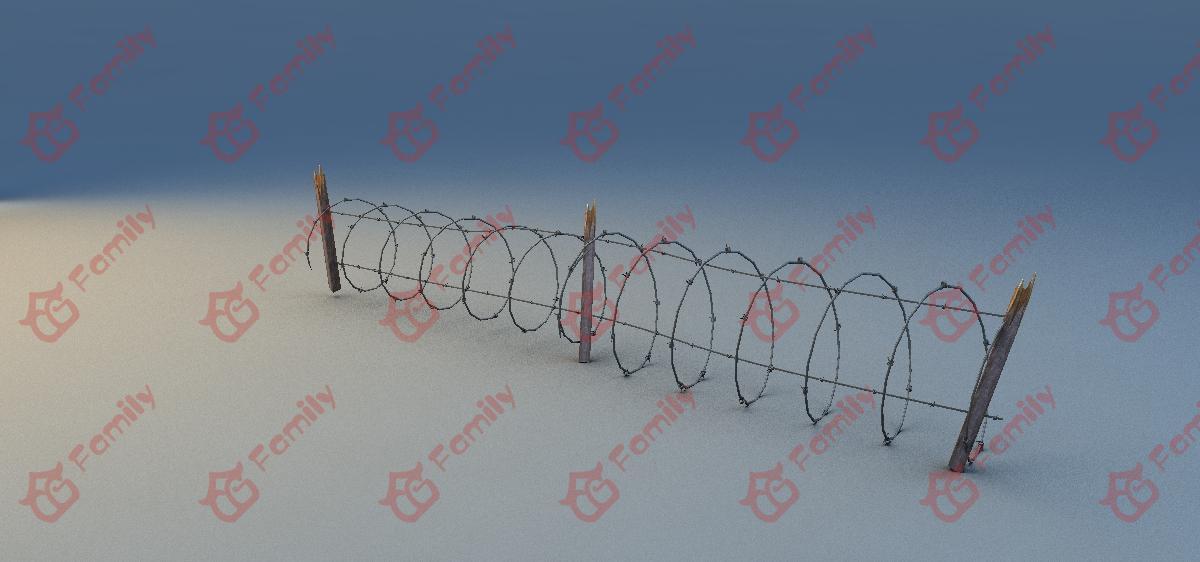 铁丝围栏3d模型下载