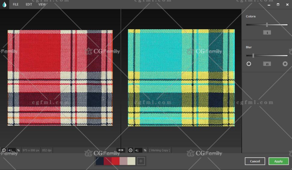 材料具有不同的颜色变化