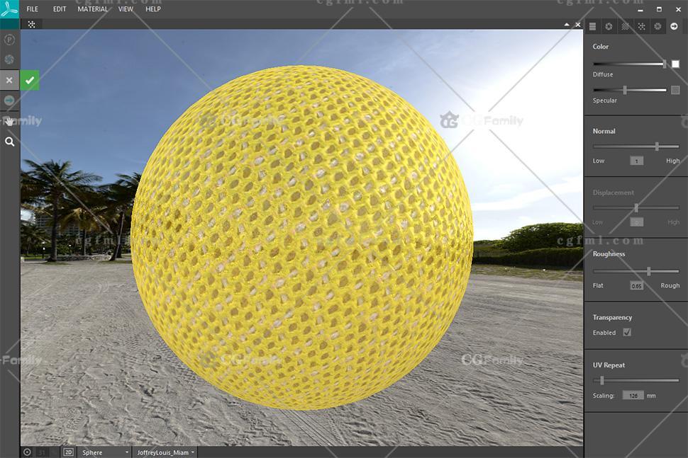 xTex中材料的3D预览