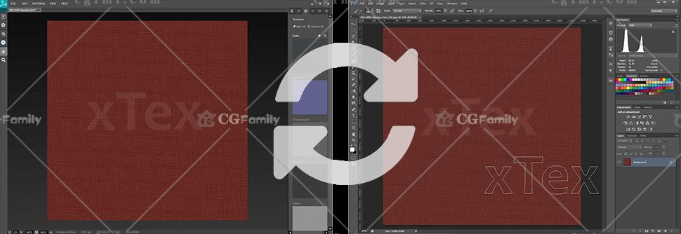 将材料从xTex传输到Photoshop