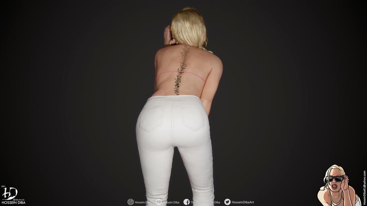 GTA圣安德烈亚斯封面女郎3D模型(实时)