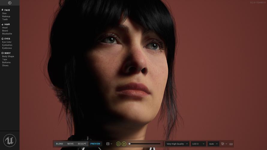 Epic Games宣布推出由虚幻引擎提供支持的MetaHuman Creator,以实现快速,高保真的数字人