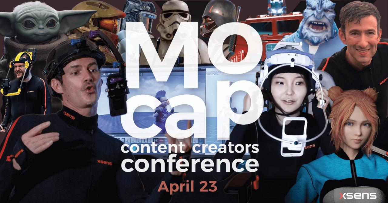 Xsens推出全球首个Mocap内容创作者大会免费注册