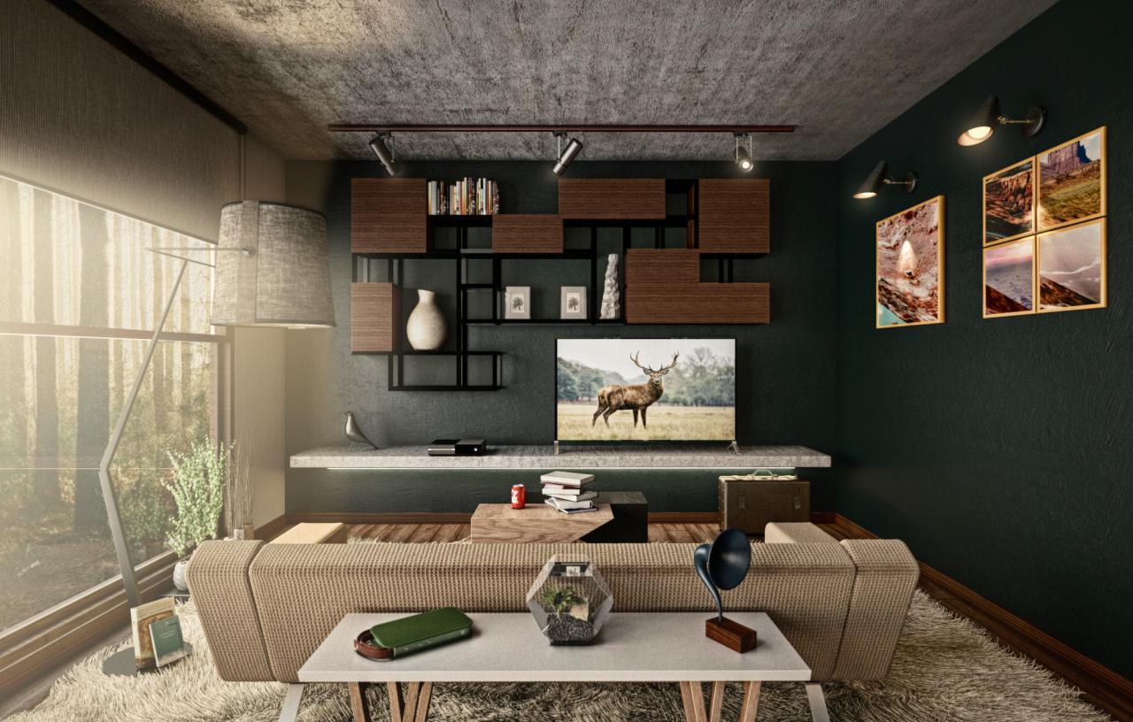 建筑内景-客厅
