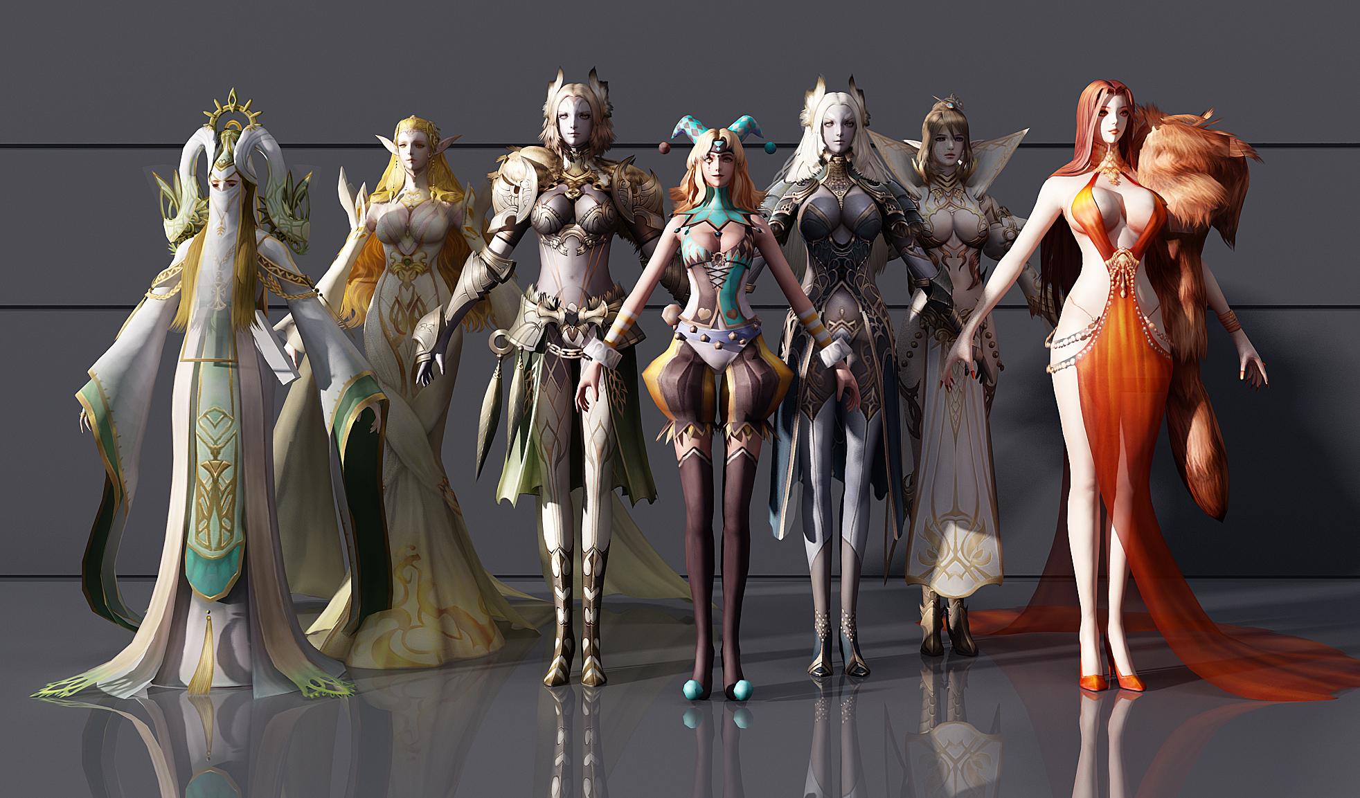 CG模型_ 游戏人物角色3d模型下载