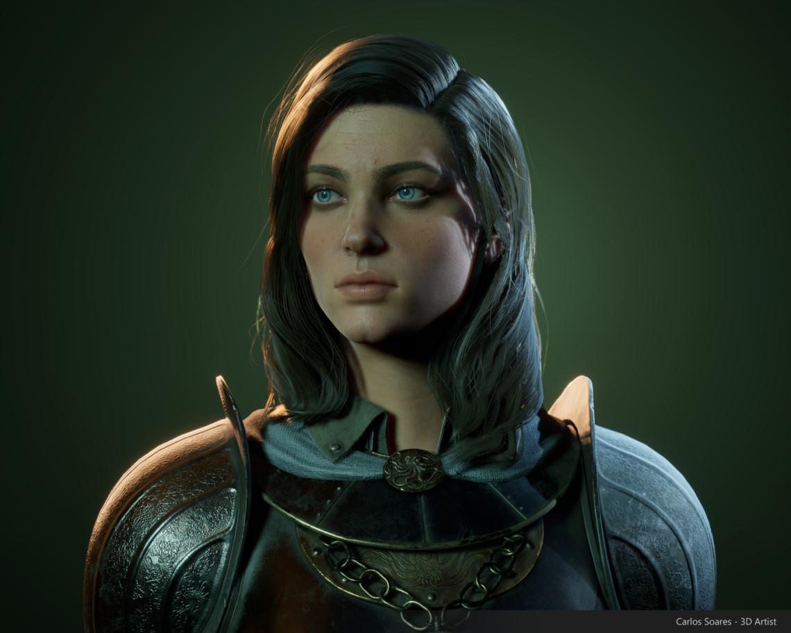 实时女骑士角色设计    设计师:Nellie Norton